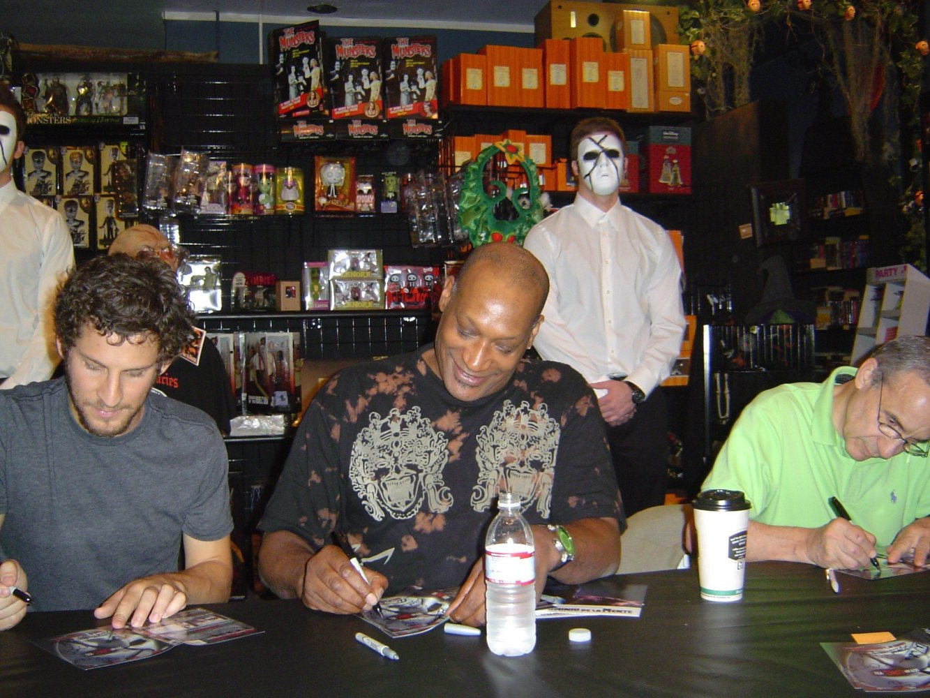 Tony Todd and Lloyd Kaufman at BRYAN LOVES YOU DVD signing,