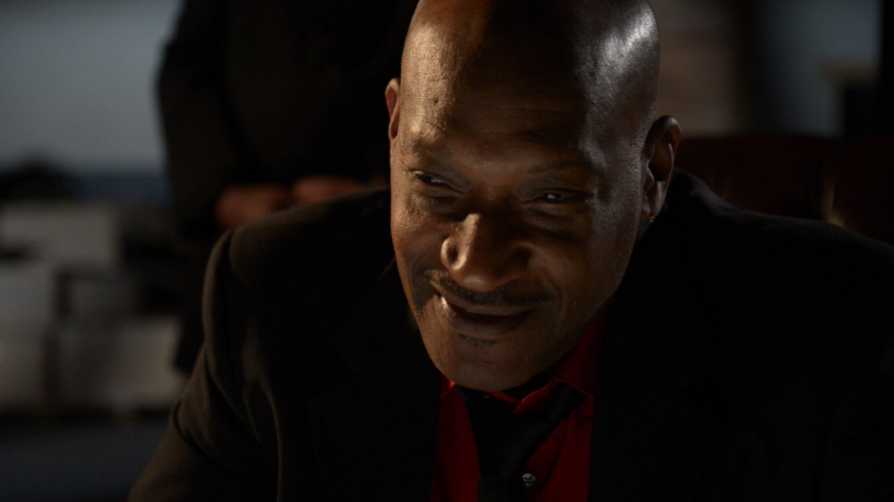 Tony Todd on the set of Driven